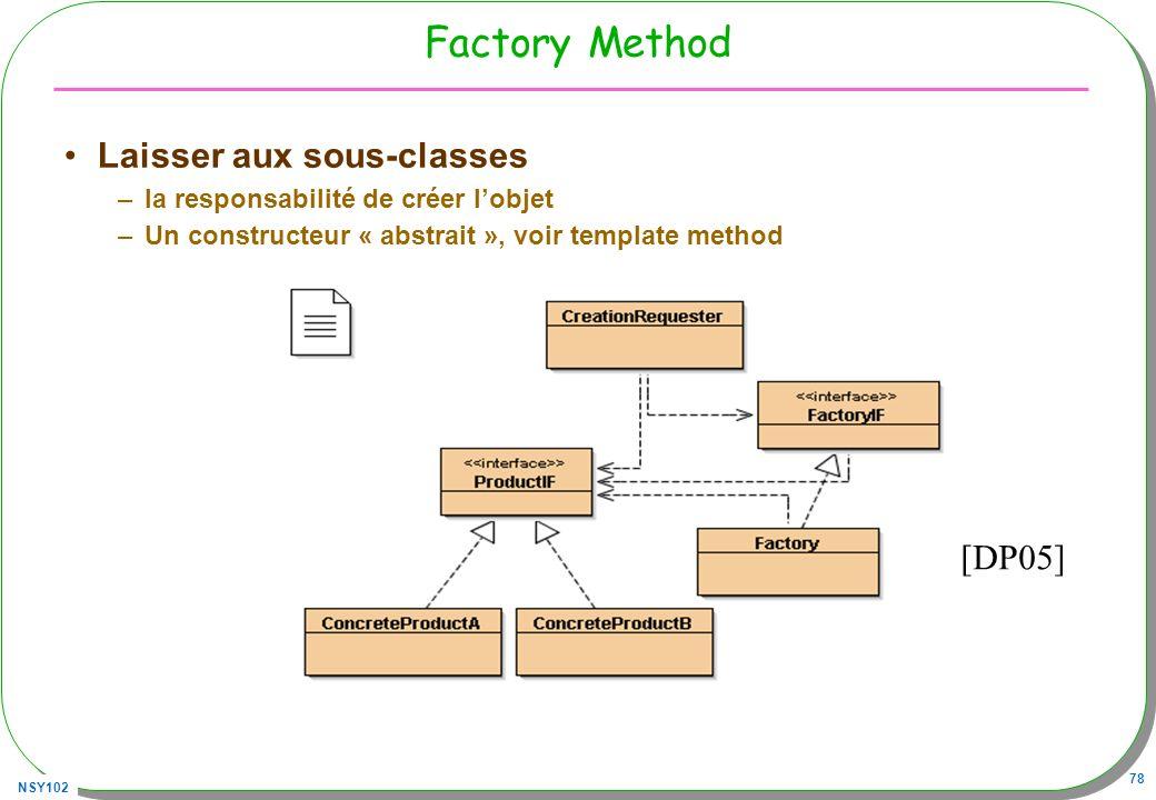 Factory Method Laisser aux sous-classes [DP05]